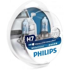 КРУШКИ PHILIPS H7 WhiteVision - комплект